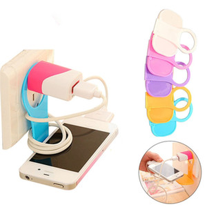Wholesale Universal Lazy Charger Dock Hand Holder Rack For Mobile Phone Random Color PP Hard Foldable Charger Phone Stand