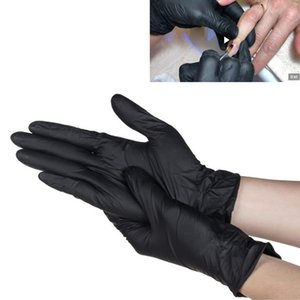 Wholesale Quality Nitrile Disposable Gloves Powder Free Non Latex Black Pedicure Nail Salon Supply