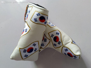 Wholesale South Korean Flag Embroidery Golf Putter Club Headcover PU Leather Blade Universal Putter Protective Cover