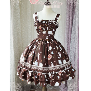 Wholesale The Delicacy Sweet Printed Lolita JSK Dress Sleeveless Midi Dress by Magic Party Pre order