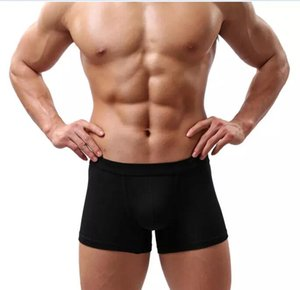 Wholesale New Sexy Men Underwear Black White Fashion Mens Boxer Shorts Bulge Pouch Soft Underpants
