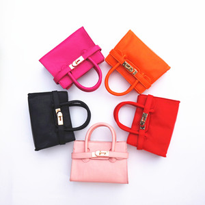 Wholesale baby girls fashion handbags resale online - Hottt Fashion Kids Bag PU Leather Kid Girl Handbag Candy Color Baby Tote Bag Girls Designer Handbags Toddler Purses Stylish Babybags