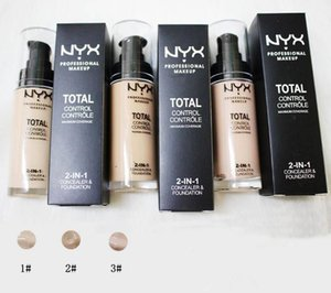 Dropshipping NYX TOTAL PROFESSIONAL Concealer Makeup 2 in 1 Soft Instant Retouch Primer Matte Longwear Foundation 3 color Cosmetics a921 on Sale