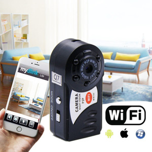 Wholesale small wireless wifi ip camera for sale - Group buy HD720P Q7 Mini Camera Wifi Infrared Night Vision Small Camera DV DVR Wireless IP Camera Video Camcorder Recorder Support TF Card