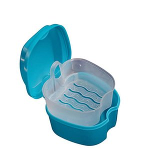 Wholesale Denture Box Container Dental Tooth Storage Bath Case False Teeth Rinsing Basket Storage Box Free DHL
