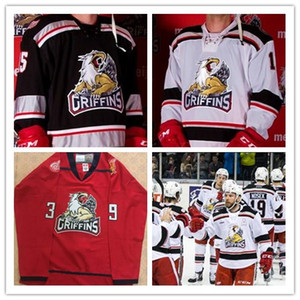 Custom Mens #39 Tyler Bertuzzi '17 CC Finals Grand Rapids Griffins Game HOCKEY JERSEY name number Embroidery Stitched Jerseys 3 color on Sale