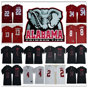 2019 Alabama CrimsonTide NCAA JerseyS Namath Jeudy N. Harris McCARRON D harris Julio Jones TAGOVAILOA College jerseys black sr on Sale
