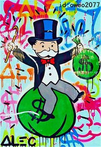 Alec Monopoly Handcraft HUGE Oil Painting on Canvas Portrait 24x36 inch