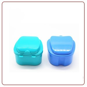 Wholesale Stomatology Medical Denture Box Container Apple Full Plastic Apple Dental Tooth Storage Bath Case False Teeth Rinsing Basket dk gg