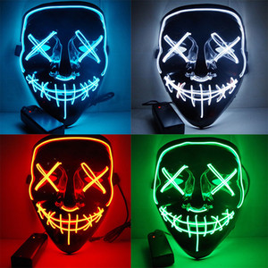new cycling Halloween mask LED Light Up Funny Masks The Purge Election Year Great Cosplay Cycling Masks Glow In Dark