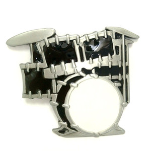 Wholesale music series punk style black jazz drum kit metal belt buckle Retail buckle for belt hebillas de metal para cinturones