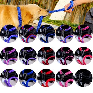 Wholesale 15colors Pet Dog Chain string collar Traction Dog Collar Big Puppy Adjustable Small Medium Large XL FFA529