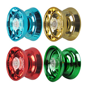 Wholesale 4 Colors Magic Yoyo Responsive High-speed Aluminum Alloy Yo-yo CNC Lathe with Spinning String for Boys Girls Children Kids
