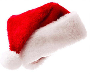 Wholesale Christmas Cosplay Hats velvet Soft Plush Santa Claus hat Warm winter adults children Xmas cap Christmas Supplies SN1896