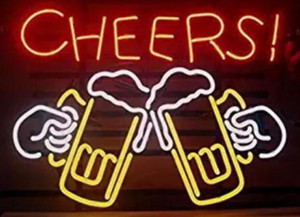 24*20 inches Cheers DIY Glass Neon Sign Flex Rope Neon Light Indoor Outdoor Decoration RGB Voltage 110V-240V