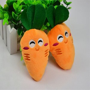 Wholesale Creative Pet Supply Soft Fleece Smiling Carrot Cute Dog Chew Squeak Toys Contains Sound Air Bag For Small Dog Puppy Factory Price
