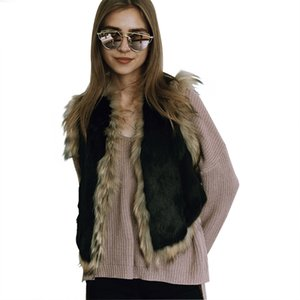 Wholesale Women Faux Raccoon Fur Vest Femme Sleeveless Fake Rabbit Fur Vests Fashion Luxury Slim Women s Jacket Gilet Veste