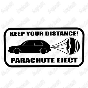 Wholesale Keep Your Distance most funny interesting style car warning sticker CA