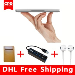 Wholesale New Original GPD Pocket Inch Aluminum Shell Mini Laptop UMPC Windows System CPU x7 Z8750 GB GB notebook Silvery