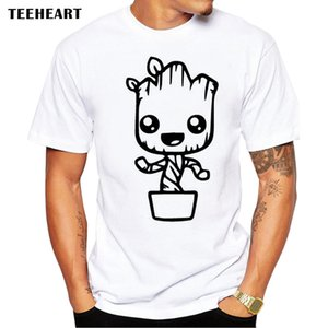Wholesale O Neck Guardians of The Galaxy Men T Shirt Anime Baby Pop Groot Summer Funny I Am Groot T Shirt Male Cool Tops Tees