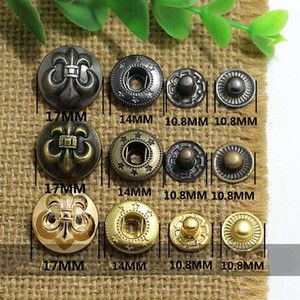 4in one Snap Buttons Fasteners Pres prong Stud metal anchor rivet for handmade Gift Craft DIY Sewing wallet handbag coat jeans