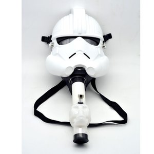 Wholesale Creative Acrylic Smoking Pipe Gas Mask Pipes Acrylic Bongs Tabacco Shisha Pipe With Star fighter Shape Mask