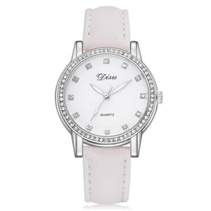 Fashion Women Quartz Watch Ladies Dress Watch Leather Strp Girls Party Wedding Rhinestone Decoration montre femme 2018