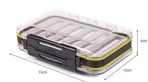 Wholesale waterproof fly boxes for sale - Group buy 4 x x1 Plastic Waterproof fly fishing Double Side Clear Slit Foam fly Fishing Box FLY BOX Tackle Case Box