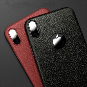 Wholesale Ultra Thin Phone Cases For Iphone X Leather Skin Soft TPU Silicone Case For Iphone S Plus