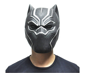 Black Panther Masks Movie Fantastic Four Cosplay Men's Latex Party Mask for Halloween