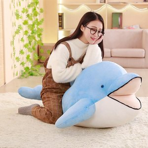 Wholesale fashion Giant Soft Dolphin Plush Toy Big Soft Stuffed Dolphin Animals Pillow Doll Baby Gift cm cm cm