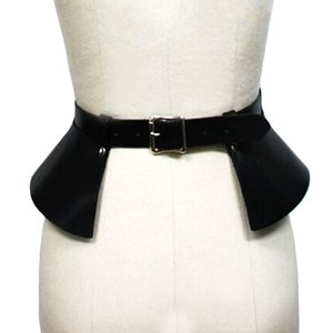 Sexy leather skirt punk catwalk models wild temperament belts Leisure bound decoration split thin leather wide belt girdle S18101807