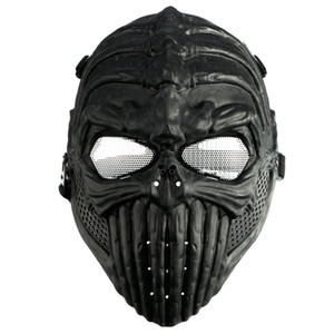 Wholesale 2018 New Tactical Military Spine Skull Skeleton Full Face Mask Hunting Costume Halloween Cosplay Party Supplies