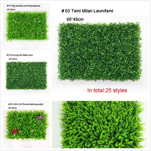 Wholesale 40 CM Simulation Lawn Plant Wall Lawn Decoration Living Room Background Green Wall Plastic Plant Lawn Kinds of Styles