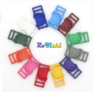 Wholesale cat buckles for sale - Group buy 100pcs quot Mixed Color Cat Head Plastic Safty Breakaway Buckles For Bra Cat Collar Paracord Webbing Garment Accessories