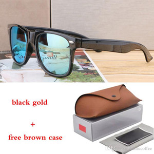 Hot Sale Sunglasses Vintage Pilot Brand Sun Glasses Band UV400 Men Women colorful Lenses with case