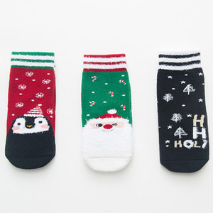 Wholesale Thick Cotton Christmas Sock Autumn Winter Warm Baby Socks 1-12 years Kids Xmas Ankle Socks 18100803