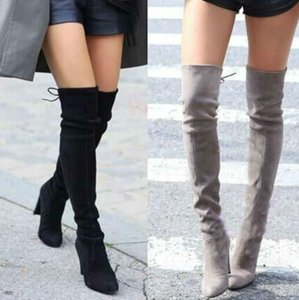 Nice Spring Women Shoes Women Boots Knee High Boots Leg Bag Over The Knee high-heeled Plus Size