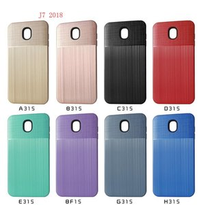 Wholesale Hybrid Brushed Armor Case For Samsung Galaxy J7 J7 Refine Dual Layer Protector Cover D