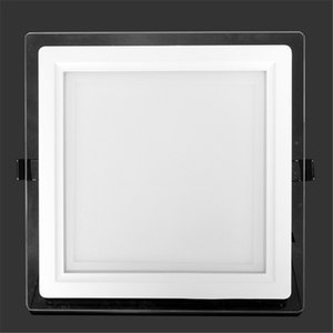 Wholesale 6W W W W Glasses Led Square Panel Recessed Wall Ceiling Downlight AC85 V White Cool White Indoor Light