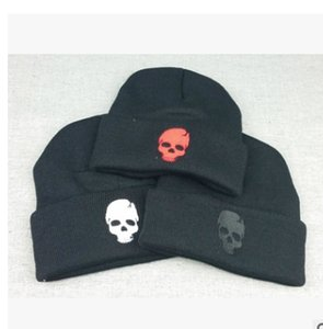 Wholesale Skull Head Punk Knitted Caps Hats For Women Men Hats Caps Hip Hop Winter Casual Warm Outdoor Ski Skullies Beanies