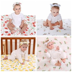 Wholesale Newborn fashion hot baby swaddle blanket baby sleeping swaddle muslin wrap headband baby blanket headband set infant photograph props