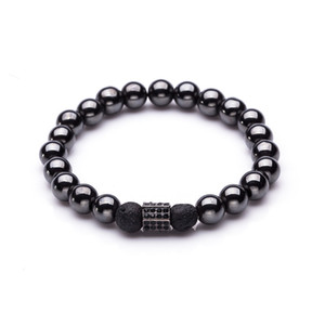 Wholesale dumbbell beads resale online - Crown Anchor Helmet Dumbbell Charms Bracelet for Men Male Beads Strand Bracelet Wrap Bracelets Bangles Jewelry Accessories