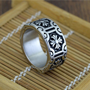Wholesale Fashion Classic Anti Silver Biker Mens Rings Retro New Jewelry Silver Rock Punk Ring for Men