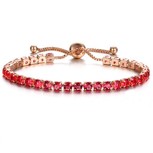 Wholesale gold pulls for sale - Group buy 10 Colors Luxury Rose Gold Color Chain Link Bracelet for Women Ladies Shiny Crystal Push Pull Bracelet Jewelry Gift