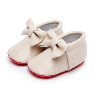 PU Leather hard sole toddler moccasins soft Fringe baby shoes Non-slip first walkers shoes for baby boys girls on Sale
