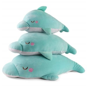 Wholesale Cute Plush Dolphin Soft Stuffed Pillow Toy Animal Pillow Kawaii Decorative Cushions for Sofa Holiday Gift for Kids Adults