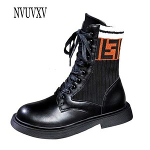 Wholesale 2019 New Fashion European style short boots round toe woman boot Leisure PU Leather Woman Shoes lace up warm flat boot sh334