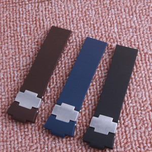Wholesale 12mm rubber resale online - 25mm x mm Silicone Rubber Watchband for Marine Blue Seal Watch Band fashion popuer
