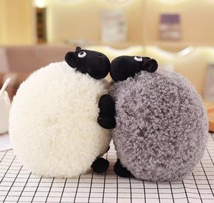 Wholesale White And Gray Sheep Plush Stuffed Toy Doll Fleece Pillow Cute Doll Christmas Gifts For Girls